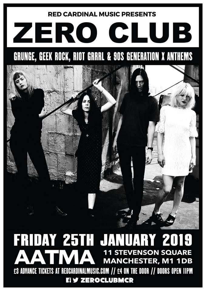 Zero Club - Aatma Manchester - Jan 19 - Red Cardinal Music