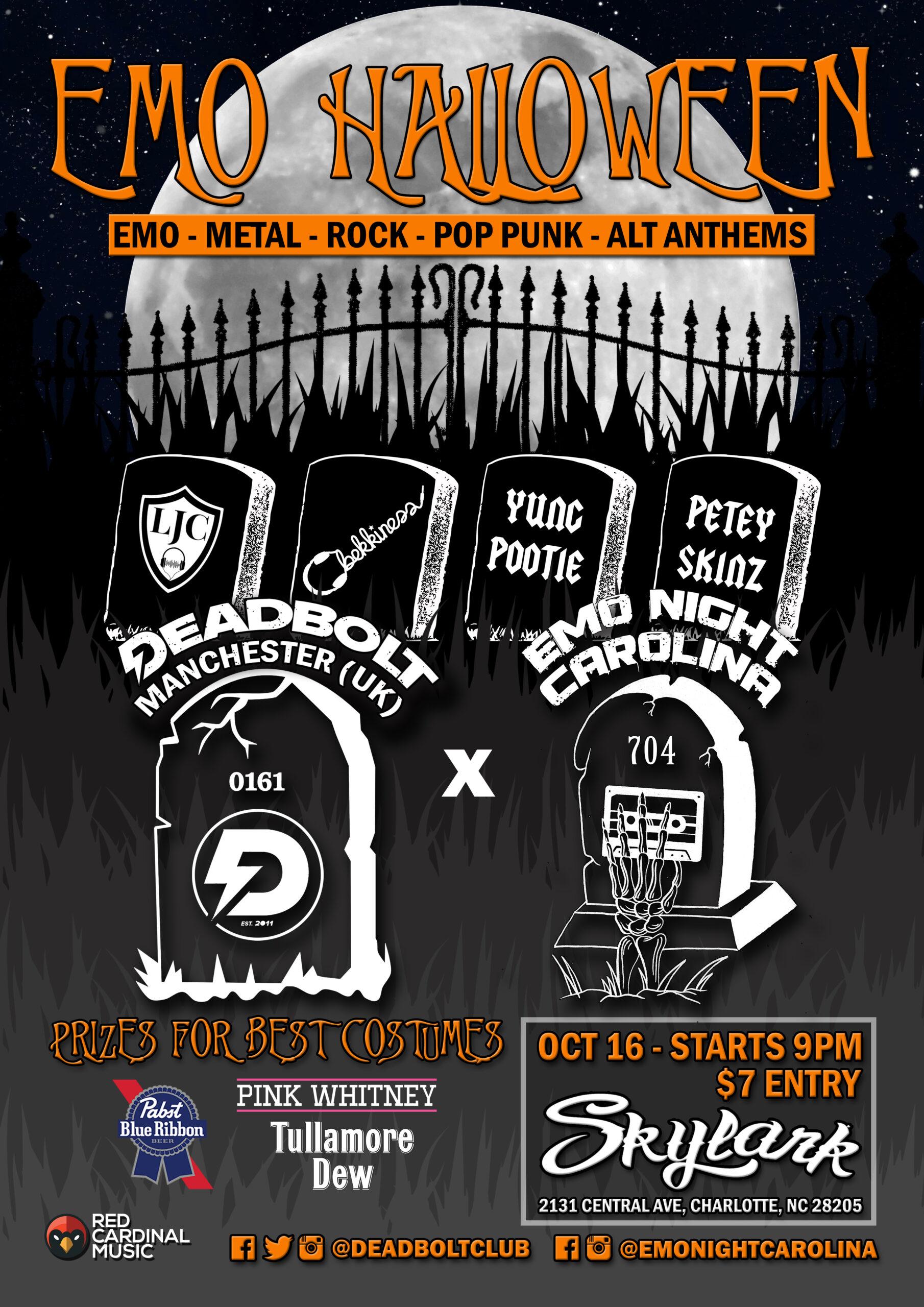 Deadbolt x Emo Night Carolina - Halloween 2021 - Charlotte